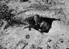 Aragón front, Spain. Republican soldier. By Robert Capa, (August-September 1936)