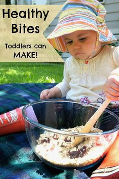 Oats cranberries etc.     Healthy bites recipe that toddlers can make themselves. Laughing Kids Learn