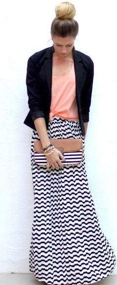 graphic maxi skirt // #fashion #clothes #style #outfit #jacket #top #skirt #handbag #cute