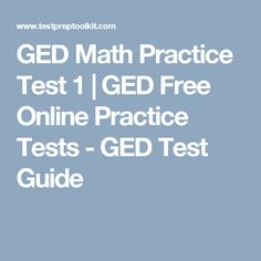 free online ged study guide