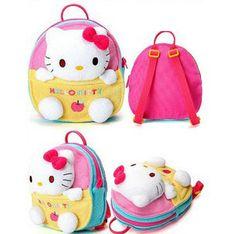 5c6bb6d28da0 Cartoon Kitty Plush Backpack for Kids Under 4 Years Old Hello kitty Bag