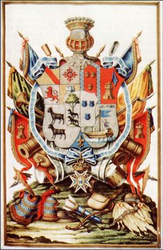Armas del I conde de Gálvez Galveston, Family Crest Symbols, Crests, Countries Of The World, Coat Of Arms, Rooster, Armors, Country, Knights