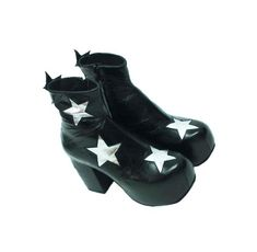 86f13855ea3 Stardust Platform Vegan or Real Leather Ankle Boots Black with Silver  Metallic Stars - Handmade to. Isabella Mars