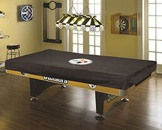 8 Foot NFL Pool Table Cover - Pittsburgh Steelers