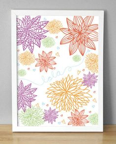 Printable+Wall+Art++Flower+Blossoms++85x10+by+menalove+on+Etsy,+$10.00