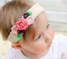 Pinteresting projects crochet hair accessories crochet hair free pattern pretty stretchy and so lovely crochet flower headband any size mightylinksfo Choice Image