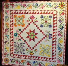 An Allentown, PA guild's raffle quilt!  Love this -- I wish I knew where to buy some tickets!