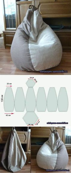 bean bag for the kids Sewing Hacks, Sewing Crafts, Sewing Projects, Diy Projects, Diy Bean Bag, Bean Bags, Futons, Creation Couture, Diy Clothes