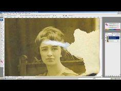 Adobe Photoshop old photo restoration - photo touchup - You Tube