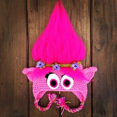 Crocheted Dreamworks Trolls Poppy Hat Free Pattern by Just Crafting Around