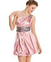Speechless Dress, Sleeveless Sash Rhinestone One-Shoulder