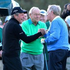 Between them, the Big Three of Jack Nicklaus, Arnold Palmer, and Gary Player has combined to win 13 Green Jackets in the Masters Tournament's 80 year history.