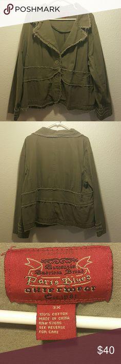Paris Blues Army green blazer Authentic army green rugged blazer. Great condition. Paris Blues Jackets & Coats Blazers