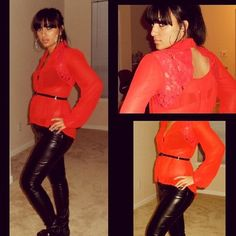 """""""Red Mesh & Leather"""""""