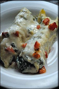 Baked Vegan Manicotti Stuffed with Tofu, Spinach and Artichoke Hearts