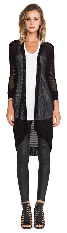 Shop for Riller & Fount Odette Cardigan in Black at REVOLVE. Spring Summer Fashion, Autumn Fashion, Only Fashion, Fashion Black, Warm Weather Outfits, New Wardrobe, Revolve Clothing, Her Style, Passion For Fashion