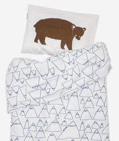 BRUNO/MOUNTAINS BED SET CRIB