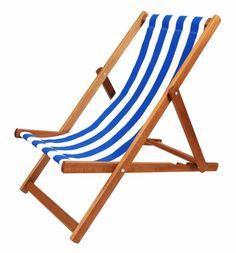 Luxury Folding Hardwood Garden Beach Deck Chair Deckchair