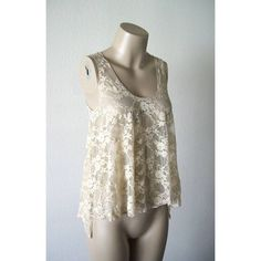 Vintage Style Taupe Lace Sheer Draping Tank Top All lace, all sheer! Very see-through, very sexy, & perfect for layering. Lots of fabric for a beautiful draping effect. Vintage lace style & color. Sweet, flirty, sexy, & alluring all in 1! Even tie the draping side pieces up for a cropped style. Would look AMAZING over a black strappy bralette for that edgy contrast! BRAND NEW!! TAG STILL ATTACHED!! Forever 21 Tops