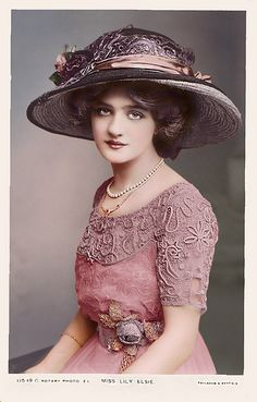 Lily Elsie~~ a lovely Edwardian beauty & actress.  My Eva Faye from Love Finds Its Way