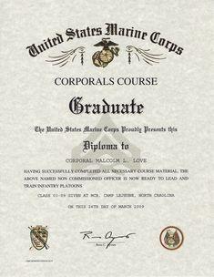 Certificate Of Commendation Usmc Template Elegant Corporals Course Usmc Certificate Dannybarrantes Tem Templates Certificate Templates Free Printable Letters