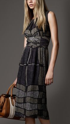 burberry | Burberry London eclectic print midi dress - Clothes Fashion