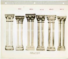 Metropolitan Museum of Art Cloisters Library and Archives The Brummer Gallery Records #columns #capitals #antiquities #cloisters Digital Archives, Paladin, Antiquities, New Words, Columns, Metropolitan Museum, Archaeology, Album, History
