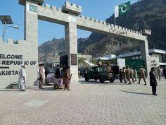 Pakistan gate at Torkham.