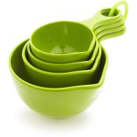 Green measuring cups from Sur La Table // I think I got these on sale. Lime Green Kitchen, Girl With Green Eyes, Cooking Gadgets, Kitchen Gadgets, Measuring Cups, My Favorite Color, Cool Kitchens, Green Colors, Colors