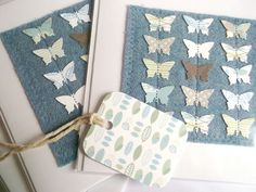 Textile Butterfly Card £4.00