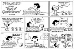 This strip was published on August 18, 1985. Snoopy and Woodstock.