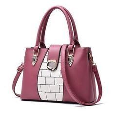 DIZHIGE Brand Panelled PU Leather Bags