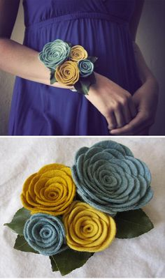 felt flowers!  For prom or wedding since flowers die.