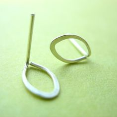 tiny wire earrings - so simple Maybe with a small dropper attached?