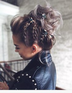 Braided Bun Hairstyles: Get Free Inspiration From This Hair! - Braided Bun Hairstyles: Get Free Inspiration From This Hair! Bride Hairstyles For Long Hair, Formal Hairstyles, Hairstyle Ideas, Bun Hairstyles, Gorgeous Hairstyles, Classic Hairstyles, Natural Hairstyles, Hairstyles For Pictures, Braided Hairstyles Medium Hair