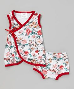 Another great find on #zulily! Red Rose Wrap Dress & Diaper Cover - Infant & Toddler #zulilyfinds
