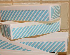 Paper Baking Pan, Bake & Serve Loaf Pans, Blue Stripe Disposable Bake Pan, Food Tray Box, Party Favor Box, Lunch Box Tray, Country Wedding