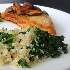 """Garlic Kale Quinoa 