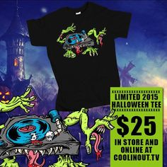 Get your Coolin Out limited edition Halloween tee. Only made 50 of them so get now online at www.coolinout.tv #turntable #fresh #dope #hiphop #streetwear #monster #dj ##halloween #turntablism #art #graffiti by coolinouttv http://ift.tt/1HNGVsC