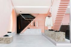 Geometric Shapes & Steps Details Inside 'Novelty' San Pedro Store by Anagrama.