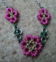 My chain maille flowers