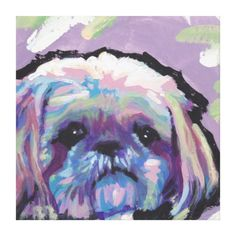 Shih Tzu Pop Dog Art on Wrapped Canvas Stretched Canvas Prints