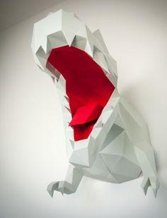 Trex Papertrophy Papercraft dinosaur
