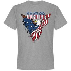 Patriotic American Eagle Unisex T-Shirt American Eagle T Shirts, Eagle American, Team Jackets, Bachelorette Shirts, Family Shirts, Adidas Men, Funny Shirts, Online Shopping