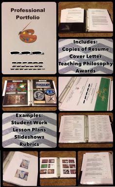 Art Teacher Interview Portfolio - Art Teacher Resume Folder - From Mrs. McLain's Art Room