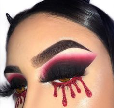 Sometimes makeup takes blood, sweat and tears. The blood makes this look so dramatic! #MakeupTutorialContouring