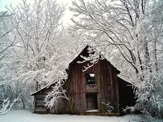 Beautiful old barn on a pretty cold and snowy day...