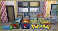 Mini set deco Pokemon[ATTACH]4 objets : 4 lits (Carapuce, Salamèche, Bulbizarre & Pikachu) - 1 boîte à mouchoirs Pokéball - 1 tableau avec 15...