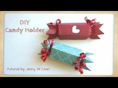 Valentine's Day Crafts - DIY Paper Candy Holder, Treat, Roll Box - Birth...
