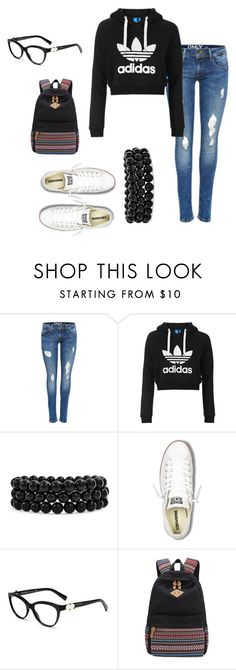 """""""back to school #3"""" by dubstepfreak ❤ liked on Polyvore featuring Topshop, Bling Jewelry and Converse"""